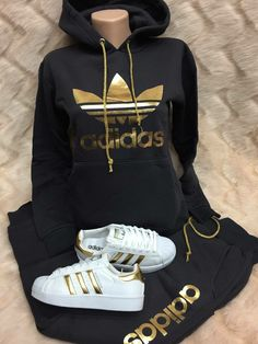 Adidas track suit - All About Swag Outfits For Girls, Cute Swag Outfits, Cute Comfy Outfits, Teen Fashion Outfits, Sporty Outfits, Teenager Outfits, Nike Outfits, Sexy Outfits, Sweats Outfit