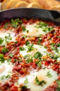 Low Carb Recipes To The Prism Weight Reduction Program Shakshuka Is A Classic Middle Eastern Dish Where Eggs Are Poached In A Spice Filled Tomato Stew. It's Perfect For Breakfast, Brunch, Lunch, Or Dinner. You Can't Go Wrong With Shakshuka New Recipes, Vegetarian Recipes, Cooking Recipes, Healthy Recipes, Xmas Recipes, Baby Recipes, Entree Recipes, Favorite Recipes, Breakfast Dishes