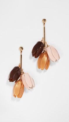 Lele Sadoughi Magnolia Bouquet Earrings Magnolia Bouquet, Pretty Ear Piercings, China Fashion, Designing Women, Pink Purple, Belly Button Rings, Jewelry Design, Designer Jewelry, Dangles