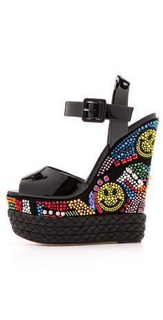 Giuseppe Zanotti Crystal Wedge Platform Sandals | SHOPBOP