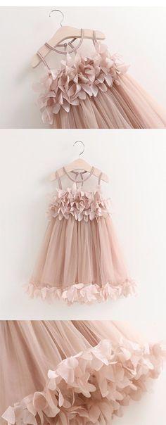 2018 Pink Tutu Flower Dress For Birthdays, Princess Party, Flower Girl, Photo Shoots,FGY0151