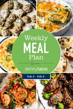 A free flexible weight loss meal plan including breakfast, lunch and dinner and a shopping list. All recipes include calories and WW Smart Points. Ww Recipes, Cooker Recipes, Healthy Recipes, Healthy Foods, Delicious Recipes, Healthy Lunches, Detox Recipes, Weight Loss Meal Plan, Weight Watchers Meals