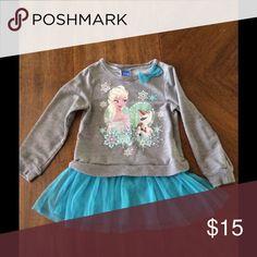"Girls ""Frozen"" Sweater Girls ""Frozen"" Sweater with tutu layered bottom Disney Shirts & Tops Sweaters"