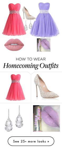 """""""Best Friend Prom"""" by fangirlfashionista05 on Polyvore featuring Casadei, Plukka and Lime Crime"""