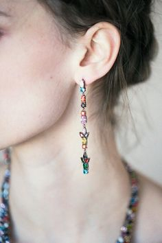 Iosselliani - Dangling Multicolor Earrings | BONA DRAG
