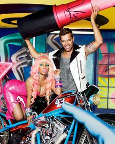 Nicki Minaj and Ricky Martin Shine in MAC's Newest Viva Glam Campaign #mac #cosmetics trendhunter.com