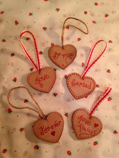 """2"""" wooden hearts for Valentines Day"""