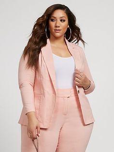 Casual Work Outfits, Blazer Outfits, Blazer Fashion, Curvy Outfits, Work Casual, Plus Size Outfits, Big Girl Fashion, Curvy Women Fashion, Plus Size Fashion