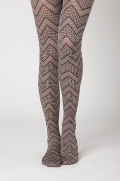 spotted zigzag tights from anthropologie - $22.00