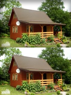 Cottage Plan, Cottage Homes, Shed Homes, Log Homes, Pyramid House, Triangle House, Build My Own House, Bamboo House, Tiny House Cabin