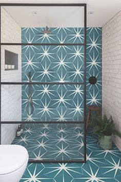 The Lily Pad collection from Ca' Pietra offers stunning patterned floor tiles and wall tiles to suit every modern and traditional home. Wet Rooms, Bad Inspiration, Bathroom Inspiration, Family Bathroom, Small Bathroom, Bathroom Ideas, Bathroom Tile Patterns, Modern Bathroom, Wet Room Bathroom