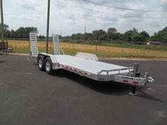 Buy 2018 aluma 8222 New aluminum bobcat Equipment flatbed Trailer 7 x 22 ft HD at online store Car Hauler Trailer, Atv Trailers, Best Trailers, Equipment Trailers, Trailer Plans, Trailers For Sale, Bobcat Equipment, Trailer Manufacturers, Aluminum Trailer