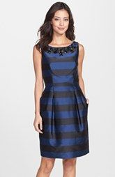 Eliza J Embellished Stripe Sheath Dress