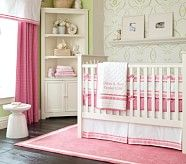 Harper Nursery Bumper Bedding Set, Coral