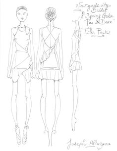See Altuzarra's Original Sketches for the New York City Ballet