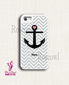 Tough Iphone 5s case, Iphone 5s cover, Iphone 5s cases - Chevron Anchor Hope apple iphone 5 Tough Rubber Protective Cases for Iphone 5