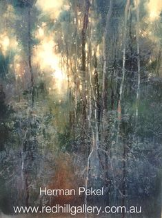 Impressionist Oil Painting by Herman Pekel. Red Hill Gallery, Brisbane. redhillgallery.com.au