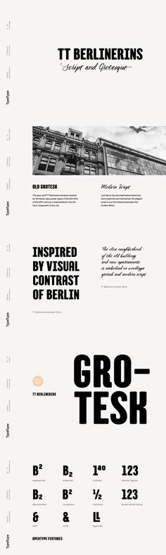 TT Berlinerins - TT Berlinerins is a contrast pair of typefaces which is basically our tribute to Berlin. J...