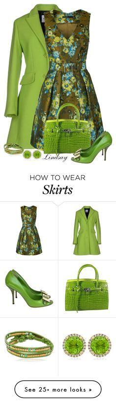 """Karen Millen Floral Jacquard Full Skirted Dress"" by lindsayd78 on Polyvore featuring Moschino Cheap & Chic, Karen Millen, Gucci, Kiki mcdonough and Colana"