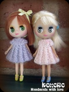 Blythe Petite LPS Pastel knit dress  Little Dal or by kokorogumis, $6.50