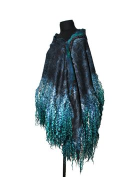 RESERVED Felted scarf Long Wrap Fur Free Scarf by FeltedPleasure, $329.00