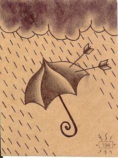 traditional tattoos, umbrellas, tattoo pattern, tattoo flash, arrow, yellow umbrella, umbrella tattoo, umbrella tradit, tradit tattoo