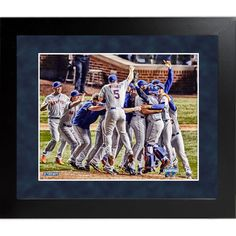 Framed New York Mets 2015 National League Champions Celebration 16x20 Collage