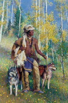 """Mountain Guardians"" R.S. Riddick, CA / 40.00x 26.00 / $35000.00 - Wood River Fine Arts"