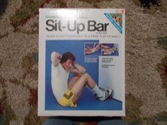Vintage Sit Up Bar Sit-A-Shape Stomach w/ manual Exercise Home  70s/80's #ScandiaNo1010