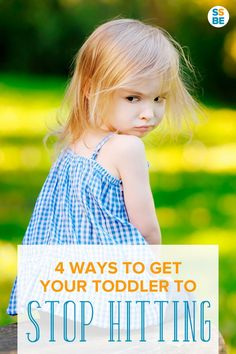 Does your toddler hit others? Dealing with a child who hits others can be a challenge. Try these 4 ways to keep a toddler from hitting other children.