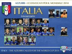 La lista dei 23 giocatori convocati per il #Mondiale, dal CT Cesare Prandelli #Italia #FIFA