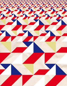 Toshio Miyake . This is a great example of scale from small to large; near & far pattern geometric print