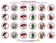 Toy Story Birthday Cupcake Toppers  Stickers  Tags by partybean, $4.99