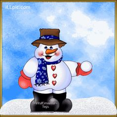 Photo of Throwing Snowballs for fans of Christmas. snowman animated