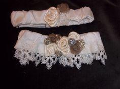 Wedding Garter Set  Vintage Chic  Julie in by BijouxBridalChicago, $60.00