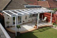 CLEAR AS GLASS carport patio canopy cover lean to awning garden pergola seating