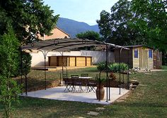 Pergola En Aluminium Prostor Cabana 3 50 X 3 50 M Toile Pvc Etanche Cabanas Pergolas And Toile