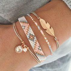 Luxury jewelry This beautiful light gray bracelet set is this week . - Luxury jewelry This beautiful light gray bracelet set is very popular this week. Shop th - Cute Bracelets, Fashion Bracelets, Fashion Jewelry, Women Jewelry, Beaded Bracelets, Colorful Bracelets, Handmade Bracelets, Embroidery Bracelets, Charm Bracelets