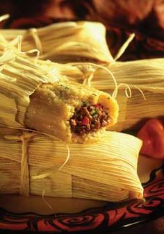 Authentic Mexican Tamales -6 cups masa harina  5 cups warm water or chicken broth  2 cups lard or shortening  1 tablespoon onion powder  1 tablespoon cumin  1 tablespoon chile powder  1 1/2 teaspoon salt