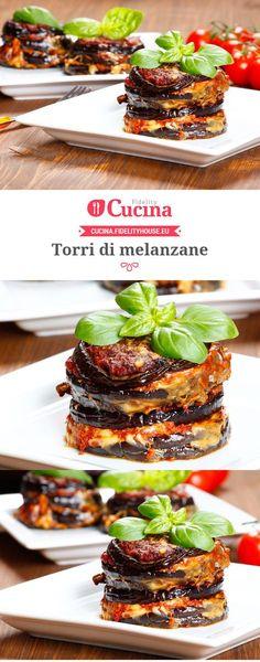 Le torri di #melanzane sono un secondo piatto che si rifà alla classica #parmigiana di melanzane ma che sarà ancora più particolare.