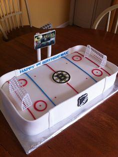 "Boston Bruins cake for Martin's ""Grooms"" cake???? LOL Sorry Ellen, couldn't resist."