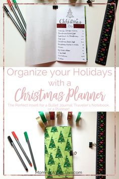 A Christmas planner is a great way to get your holiday plans organized! It's the perfect addition to your bullet journal, planner, or traveler's notebook!