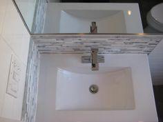 Mosaic vanity backsplash