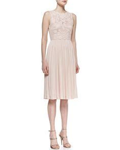 Sleeveless Floral & Pleated Skirt Cocktail Dress by Catherine Deane at Bergdorf Goodman.