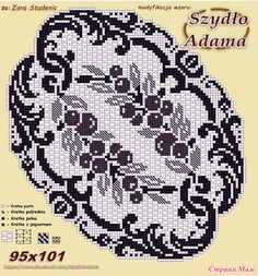 Filet Crochet Charts, Crochet Doily Patterns, Crochet Doilies, Crochet Lace, Projects To Try, Black And White, Instagram Posts, Handmade, Tutorials
