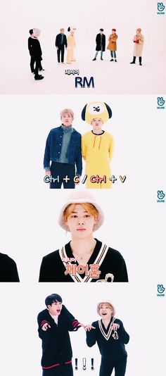Jimin an Jin had to act like JHope for that 2nd one in the pic :)