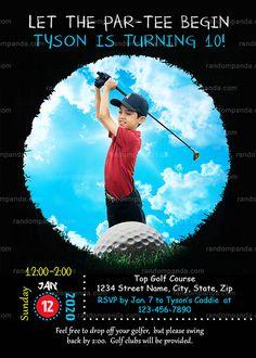 Personalize Golf Invitation, Sports Retirement Party, Tee Birthday Invite Golf Invitation, Retirement Party Invitations, Retirement Parties, Birthday Invitations, Invite, Birthday Parties, Golf Party, Street Names, Large Photos