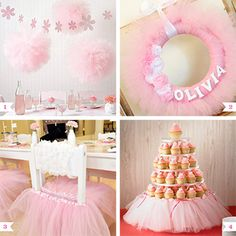 For a little girl's ballet party, decorating with pink tulle is a must! It's perfect for the theme and – bonus! – for DIY projects, it's an inexpensive and easy material to work with. Add sweet and feminine details to your ballet party with some ...
