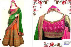 Call it a pop up shop for now, but we have tied up with design house Indian Fabric Emporium-Deepak Shekhar to sell some pieces of their most recent. Bridal Lehenga, Lehenga Choli, Anarkali, Indian Wedding Outfits, Indian Outfits, Indian Clothes, Wedding Dress, Indian Blouse, Saree Shopping