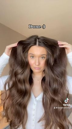 Hair Tips Video, Long Hair Tips, Curls For Long Hair, Easy Hairstyles For Long Hair, Hair Videos, Heatless Hairstyles, Heatless Curls, Aesthetic Hair, Hair Transformation